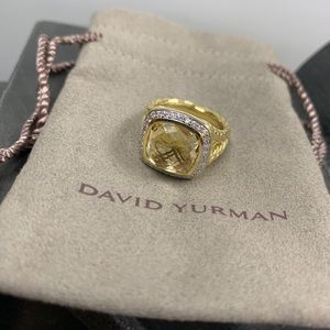 David Yurman ALBION Champagne Citrine Diamond Ring